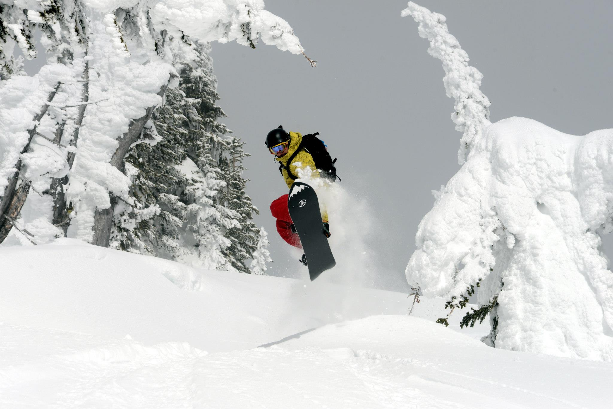 Snowboarder Catching Air, Selkirk Powder