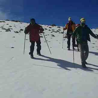 snow on mount taftan, Mount Damavand