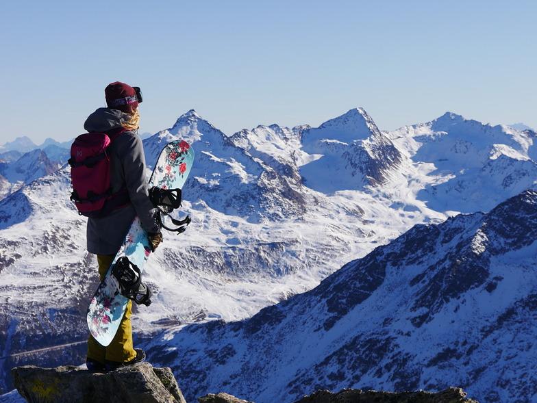 Mountain girl in Tirol, Austria., Sölden