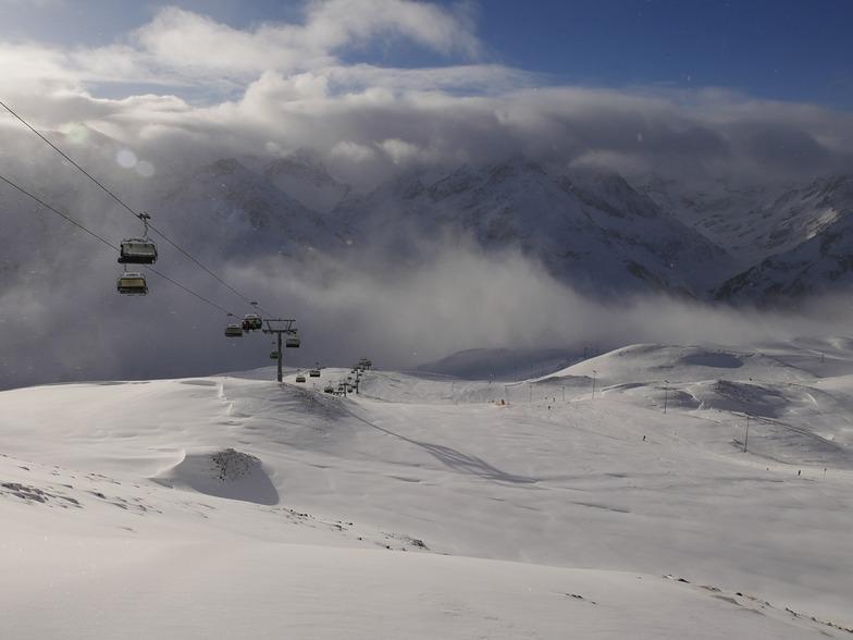 First snow of the year in Kuhtai, Kühtai