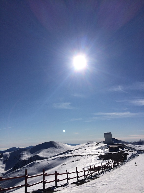 Sunny Moon and Snow in Greek Xmas!, Kalavryta Ski Resort