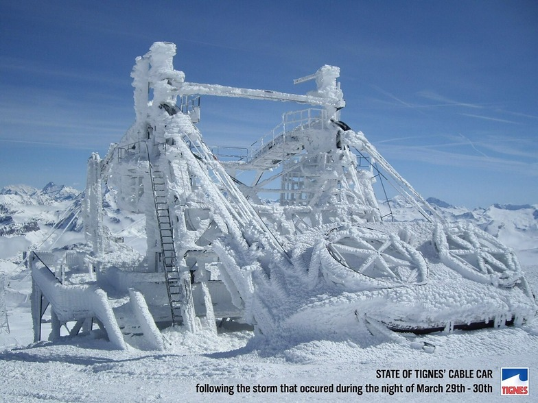 Grande Motte Frozen cable car, Tignes