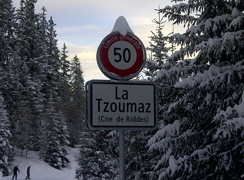 Magical and easy runs through the trees bring you back into the resort of La Tzoumaz