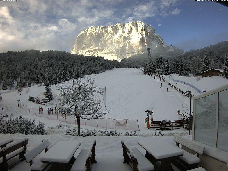 Fresh snow in Val Gardena 10.01.2016