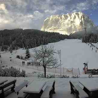 Fresh snow in Val Gardena 10.01.2016