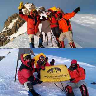 Damavand mountain winter ascent of the west side by Araki, Mount Damavand