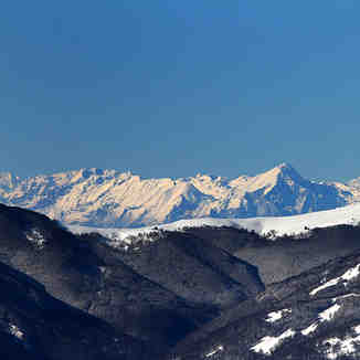 High Albania mountains seen from Brezovica KS
