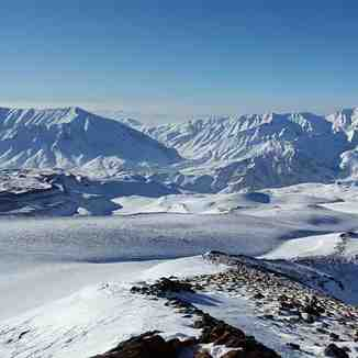 Climbing Mount Damavand by Arak flight in winter 2016