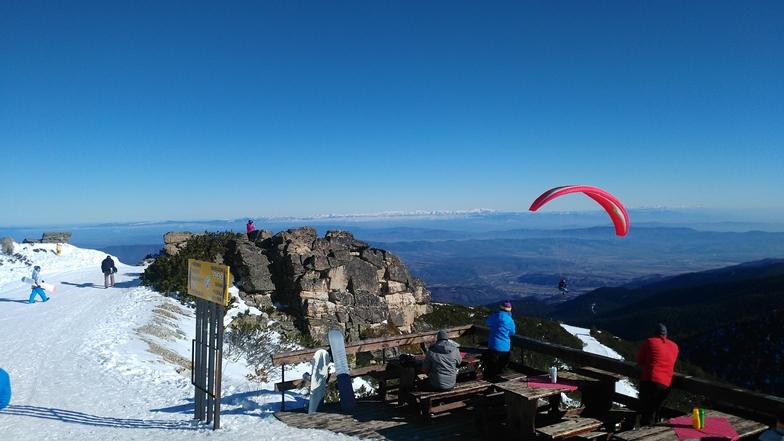At Yastrebets peak, Borovets