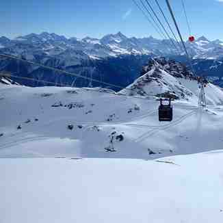 WAY UP to PLAINE MORTE GLACIER, Crans Montana