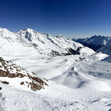 Stubai resort looking north, Stubai Glacier