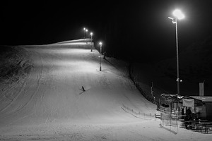 Night skier, Neustift photo