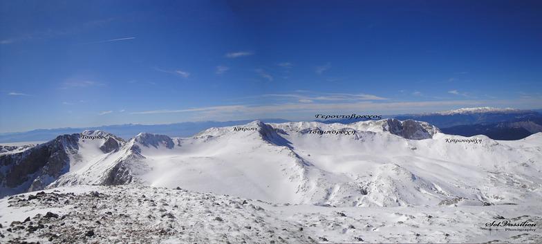Liakoura peak 2456m, Mt Parnassos-Kelaria