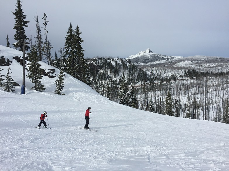 Hoodoo ski area with my wife and 5 year old son.