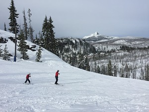 Hoodoo ski area with my wife and 5 year old son.  photo