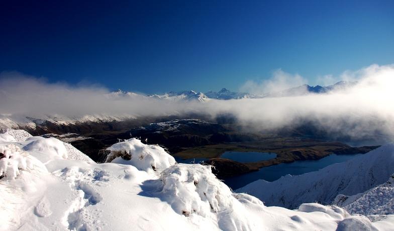 above the clouds, Treble Cone