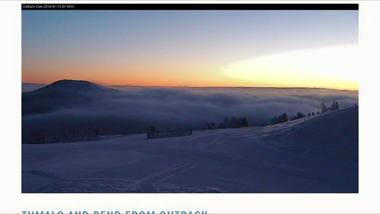 web cam sunrise, Mt Bachelor