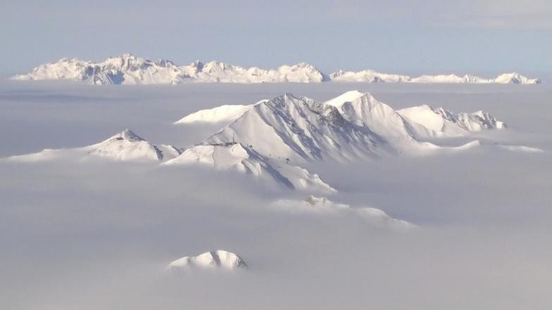 Sea of cloud, La Plagne