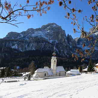 Colfosco church., Corvara (Alta Badia)