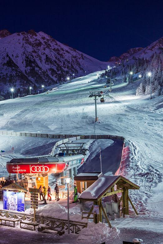 Nigth ski in Shymbulak Kazakhstan ski resort
