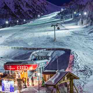 Nigth ski in Shymbulak Kazakhstan ski resort