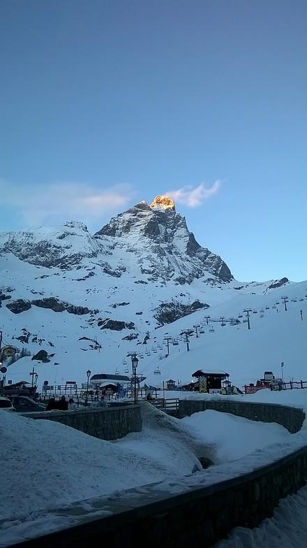 Matterhorn on fire, Breuil-Cervinia Valtournenche