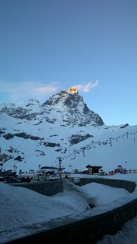 Matterhorn on fire, Breuil-Cervinia Valtournenche