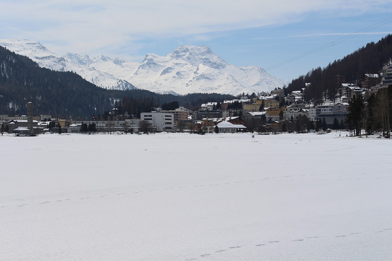 The captivating view of Saint Moritz lake, Swiss Valley