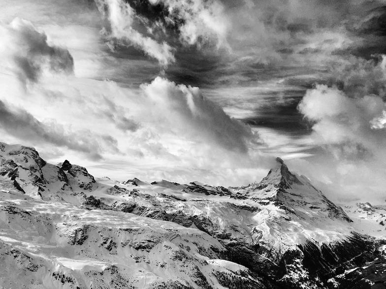 Matterhorn and clouds, Zermatt