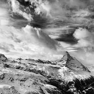 Matterhorn and clouds, Zermatt
