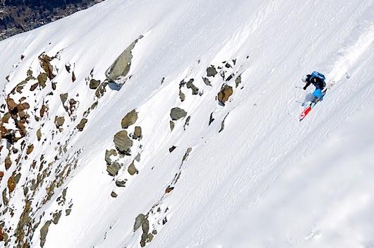 Mark Gear Skiing Argentiere, Chamonix