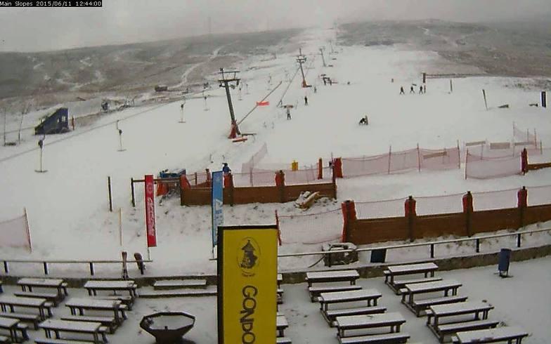 Blizzard on the mountains, Afriski Mountain Resort