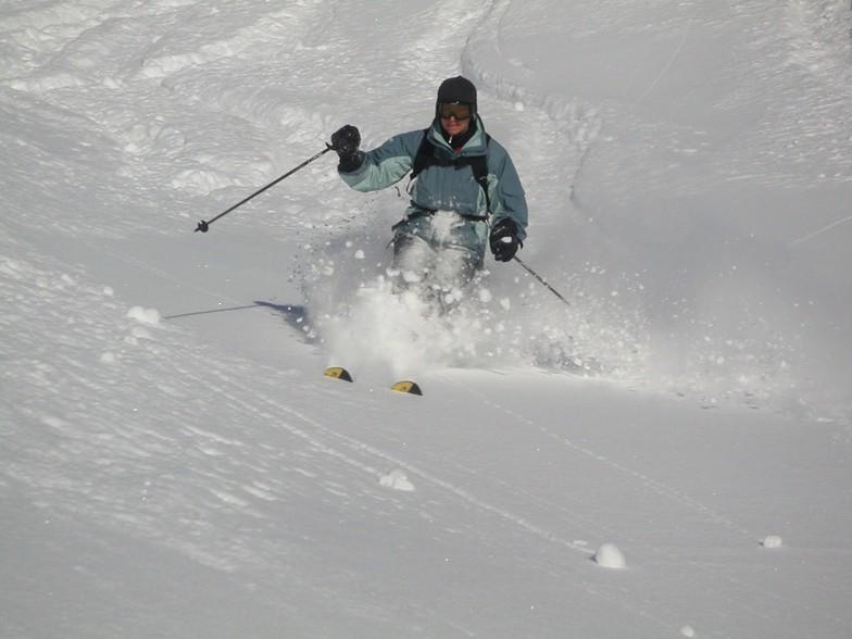 Caroline  on Steinbock, Davos