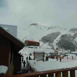 Acceso a canchas de ski, Nevados de Chillan