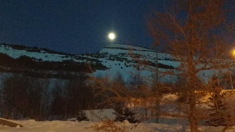 Full moon, Les Deux Alpes