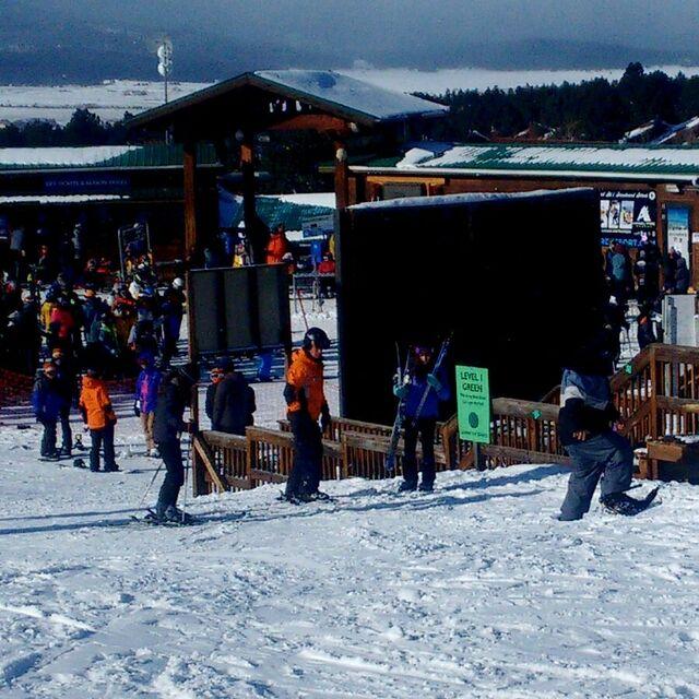 practicando snowboard, Angel Fire Resort