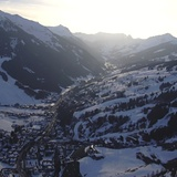 Sunset over Hinterglemm, Saalbach Hinterglemm