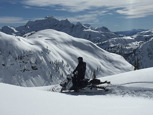 Top of the World Tracks, Mike Wiegele Helicopter Skiing photo