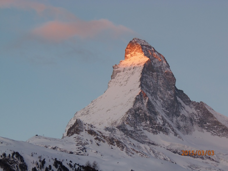 Matterhorn on fire, Zermatt