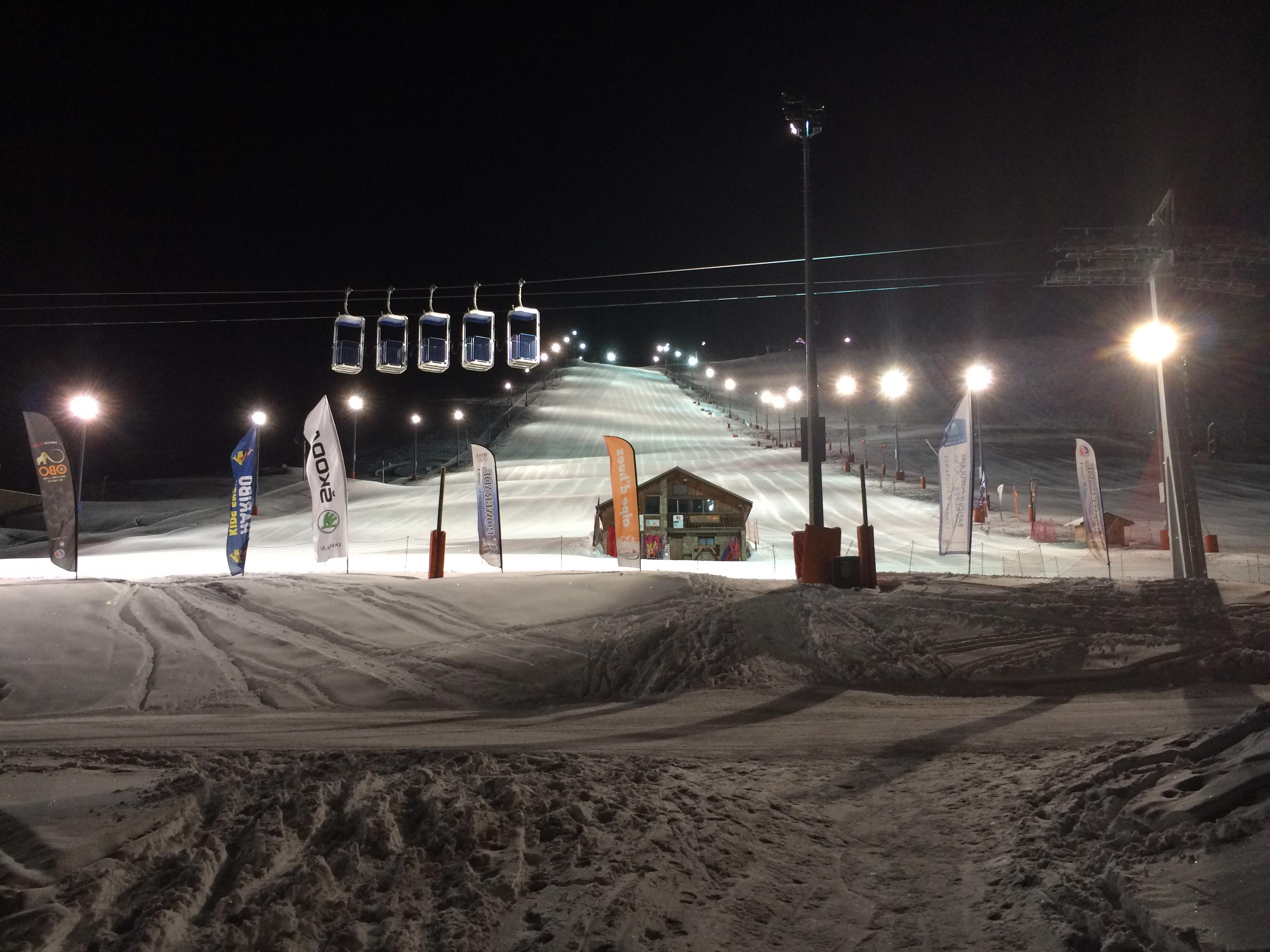 Night ski, Alpe d'Huez