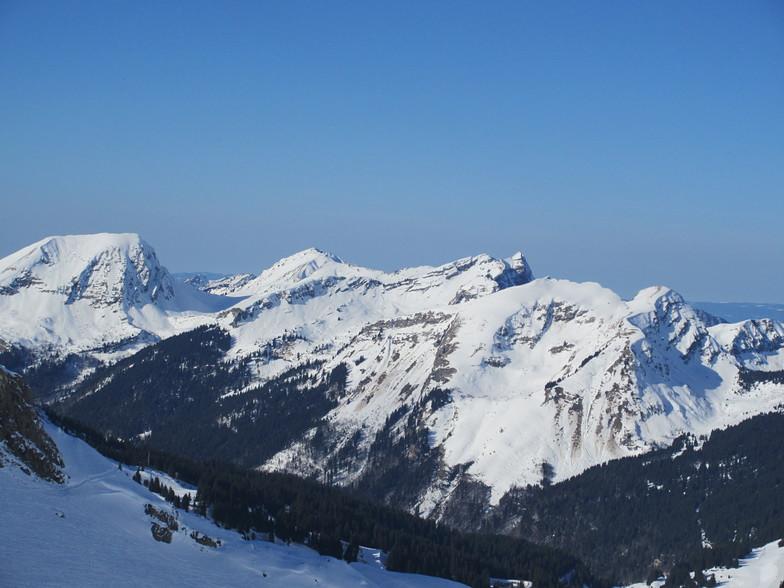 Morzine view of Mont Blanc
