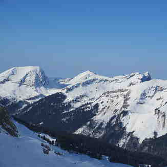 Morzine view of Mont Blanc