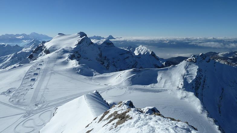 panoramique ,snow park, Gstaad Glacier 3000