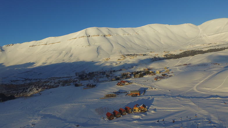 The plateauof the cedars - note the ski slopes upeer right