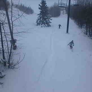 Canyon, Red Deer, Pow day on Powderhorn, Canyon Ski Area