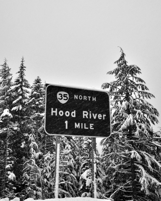 On The Way to Mt. Hood Meadows Oregon, Mt Hood Meadows
