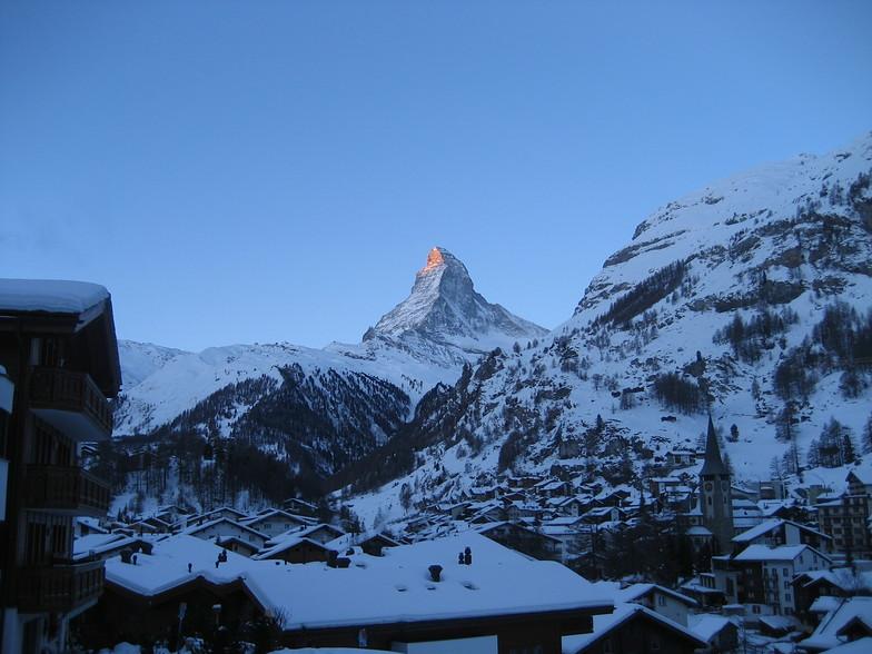 Sun rise on the Matterhorn, Zermatt