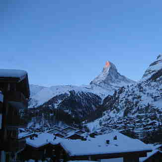 Sun rise on the Matterhorn, Zermatt