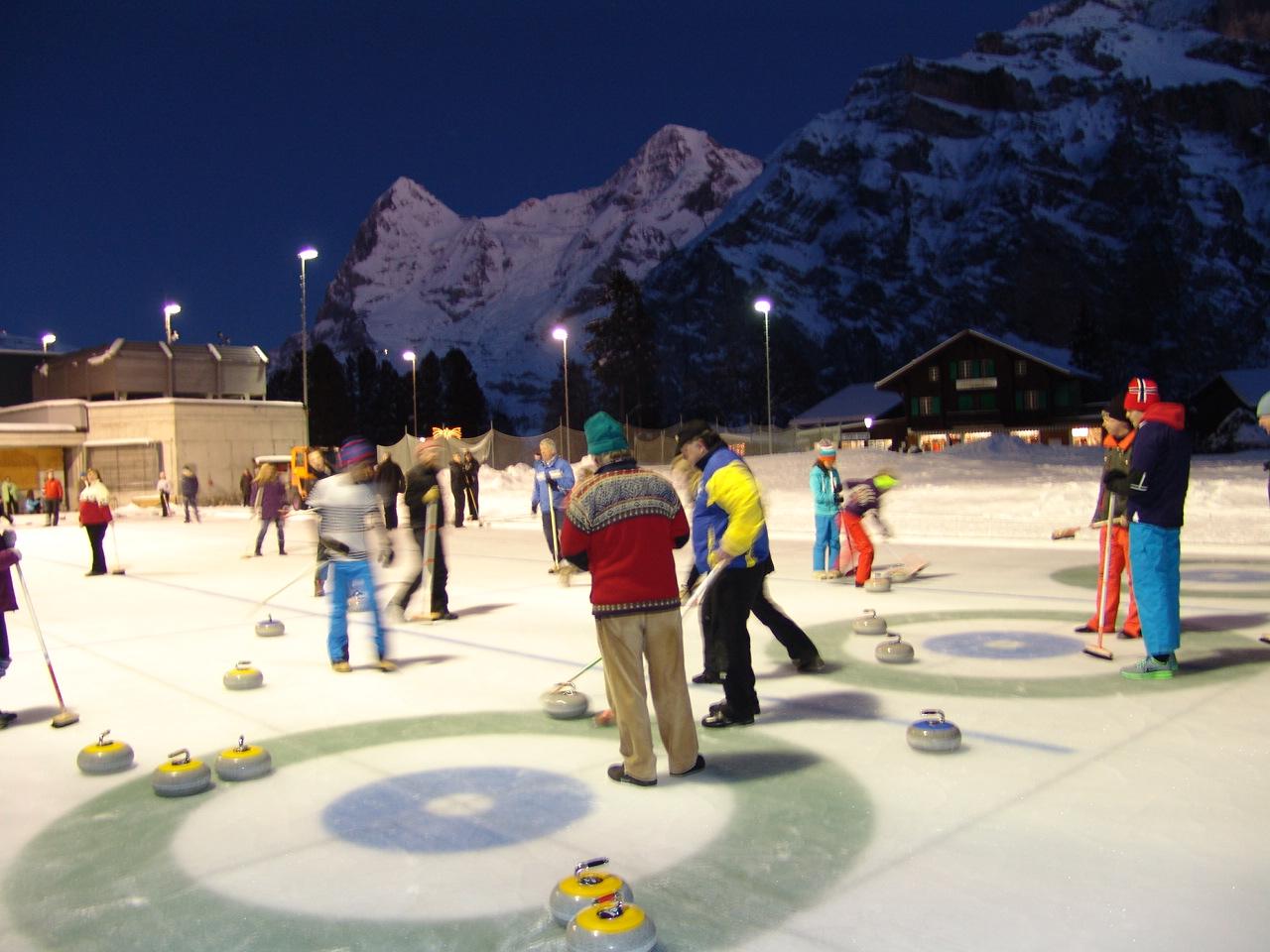 open air curling in Murren, Mürren