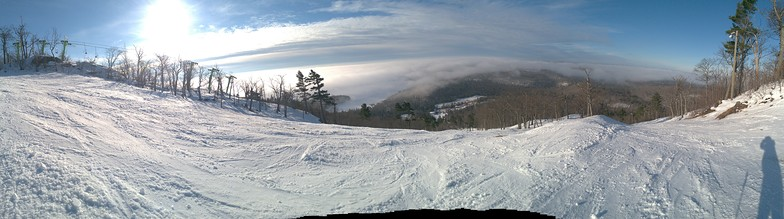 Panorama above the clouds, Mount Bohemia